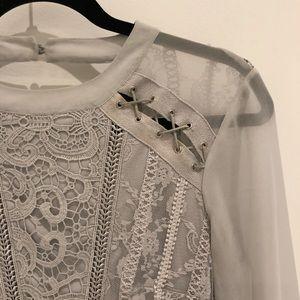 Topshop Dresses - TopShop dress. Lace. Grey. Size US 4.